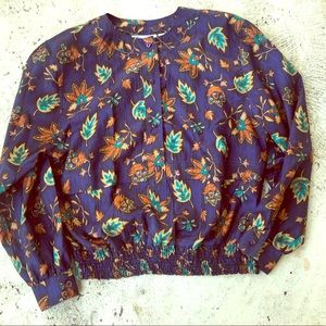 Lovely Vintage Style Polyester Blouse